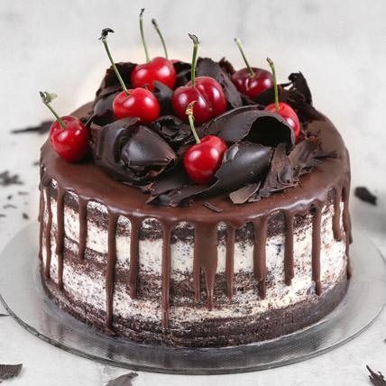 Delicate Black Forest Cake Half Kg: Send Cakes to Bahrain