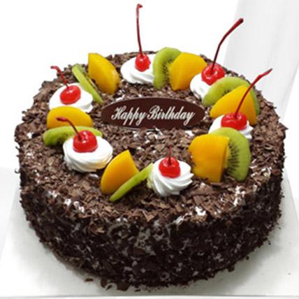 Chocolate Cream Fruit Cake: Send Cakes to China