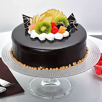 Fruit Chocolate Cake:  Cake Delivery In India