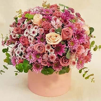 Colourful Carnation & Rose Box: Flower Delivery Jordan