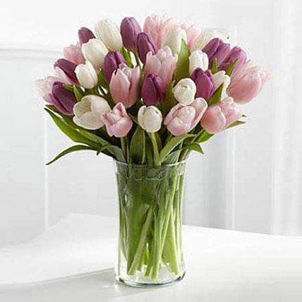Painted Skies Tulip Bouquet KT: Mothers Day Gifts in Kuwait