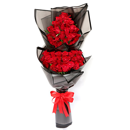 Prettiest 50 Red Roses Bouquet: Flower Delivery Kuwait
