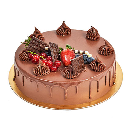 4 Portion Fudge Cake: Birthday Cakes for Father