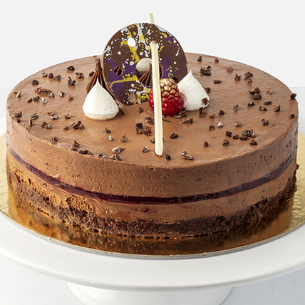 4 Portions Chocolate Raspberry Cake: Cakes Delivery in Abu Dhabi