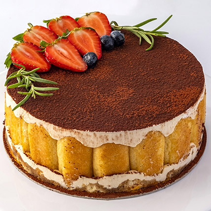 4 Portions Tiramisu Cake: Birthday Cakes