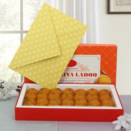 Box of Motichoor Laddoo: Diwali Sweets