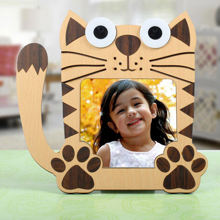 Cat Shaped Personalized Frame: Newborn Baby Gifts