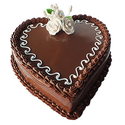 Choco Heart Cake: Valentine Cakes for Him