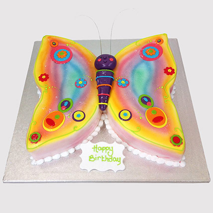 Colouful Butterfly Cake: Butterfly Cakes