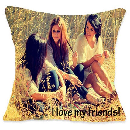 I Luv My Friends Personalized Cushion: Friendship Day Cushions