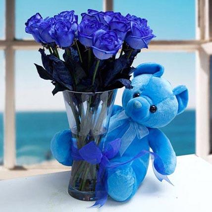 Joyful Corsage: Flowers with Friendship Day Teddy Bear