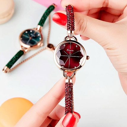 KIMIO Shining Red Watch: Watches