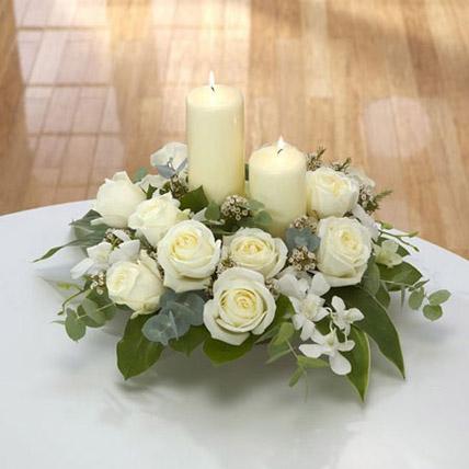 Center Table Arrangement: Candles