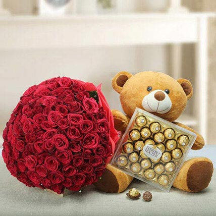 Say U Care: Karwa Chauth Flowers & Teddy Bears