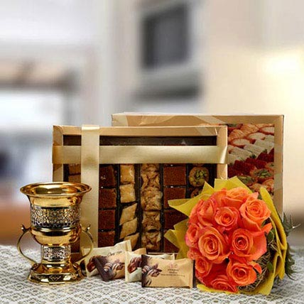 Blooming Wishes: Ramadan Flowers and Sweets