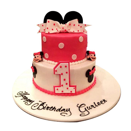 Minnie the cutie Cake: Minnie Mouse Cake