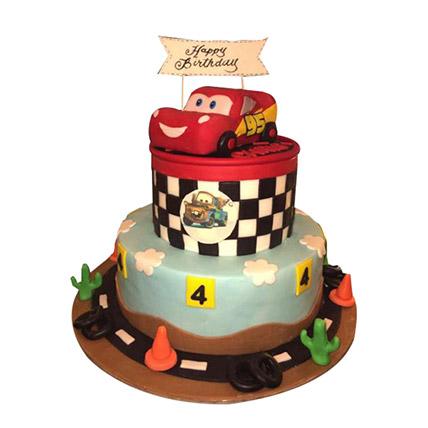 McQueen Car Circuit Cake: Car Cakes