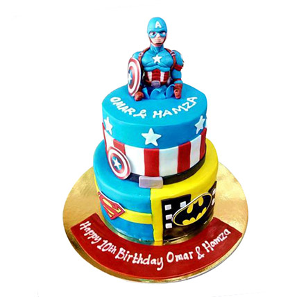 Hero Cake: Cartoon Birthday Cakes