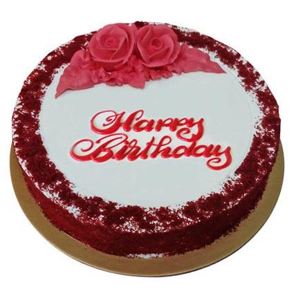 Red Velvet Birthday Cake: Birthday Cakes for Father