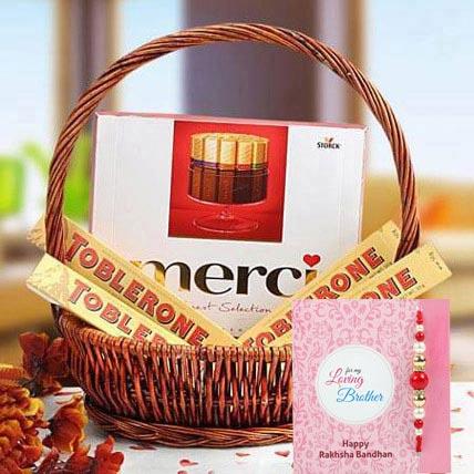 Rakhi with A Gift of Perfection: Rakhi With Chocolates