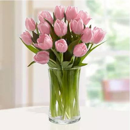 Pink Tulips Arrangement: Tulips Bouquet