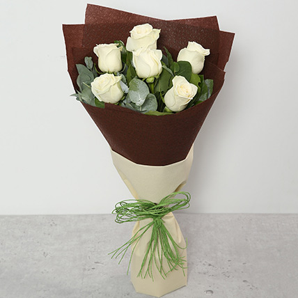 White Roses Bouquet: Sympathy & Funeral Flowers