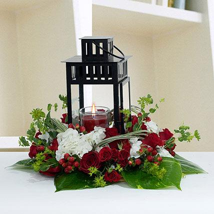Ravishing Center Table Flower Arrangement: Eid Mubarak Flowers