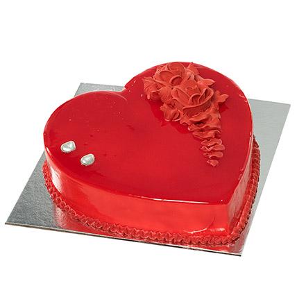Red Heart Shape Chocolate Cake: Heart Shaped Cakes