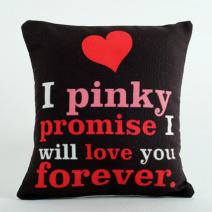 Pinky Promise Cushion: Personalised Gifts for Girlfriend