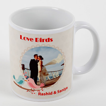 Love Birds Personalized Mug: Personalised Gifts