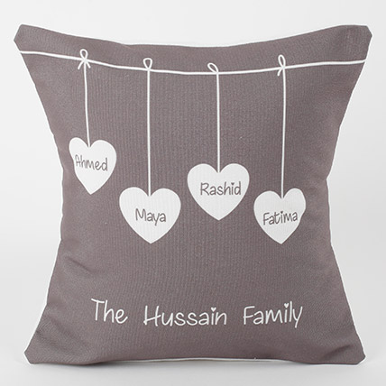 Family Love Personalized Cushion: Personalised Gifts for Parents