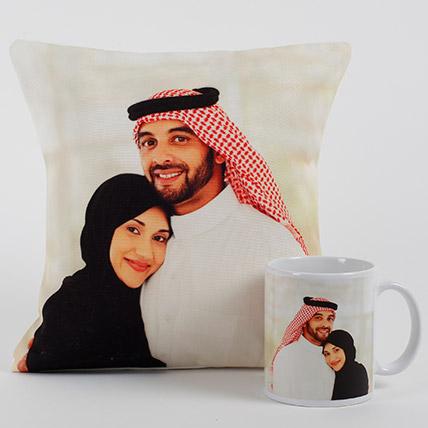 Lovable Personalized Cushion N Mug: Personalised Anniversary Cushions