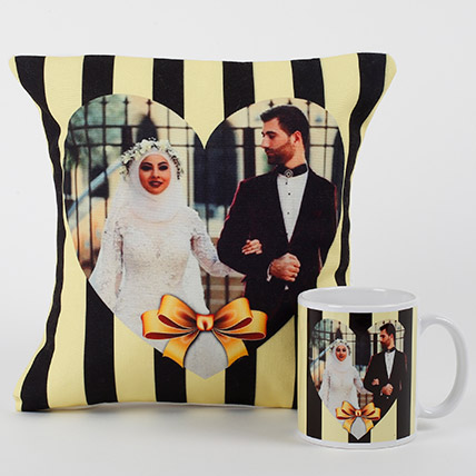 Forever Together Personalized Combo: Personalised Anniversary Cushions