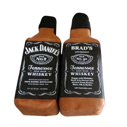 Designer Jack Daniels Fondant Cake: Designer Cakes  Delivery