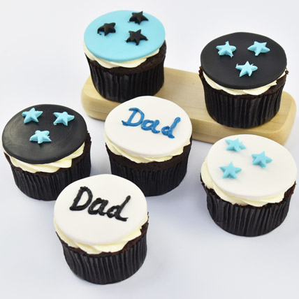 Starry Cupcakes For Dad: Happy Fathers Day Cakes