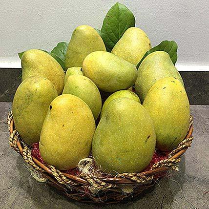 Assorted Mangoes in a basket: Alphonso Mango Dubai