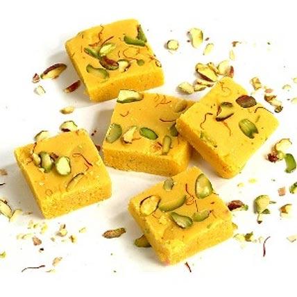 Special Khoya Kesar Barfi: Indian Sweets