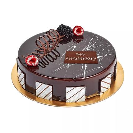 Chocolate Truffle Anniversary Cake: Anniversary Eggless Cakes
