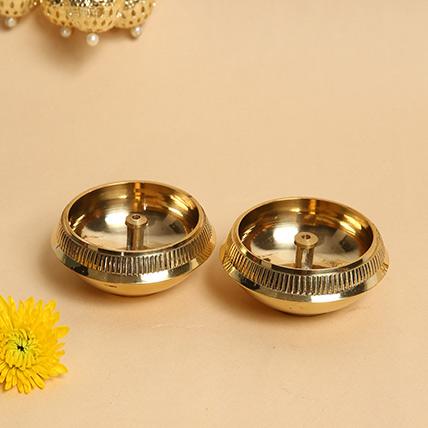 Set of 2 Brass Diyas: Diwali Diyas