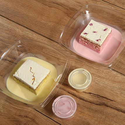 Rose and Saffron Flavor Milk Cake Combo: Milk Cakes