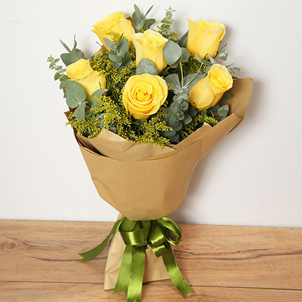 Bouquet Of Yellow Roses: