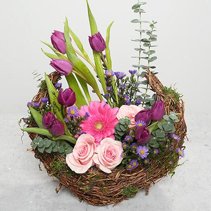 Tulips and Roses Flower Arrangement: Gerberas Bouquet