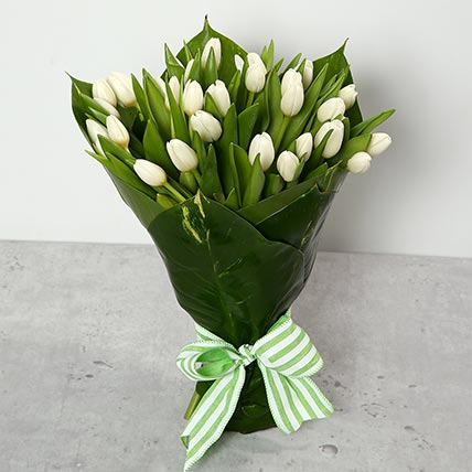 White Tulips Bouquet: Tulips Bouquet