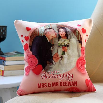 Personalised Anniversary Cushion: Personalised Anniversary Cushions