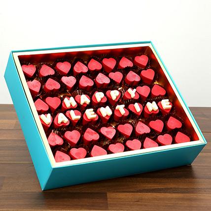 Valentine Special Heart Shaped Belgium Chocolates: Valentines Chocolates