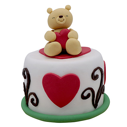 Teddy Cake For Valentines Day: Valentines Day Gifts