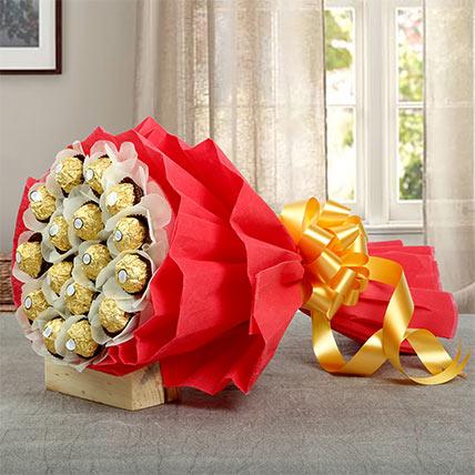 24Pcs Ferrero Bouquet: Chocolate Bouquet