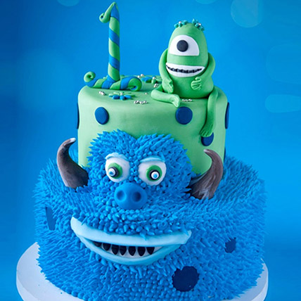 Mike and James From Monsters Cake 6 Kg: 1st Birthday Cakes