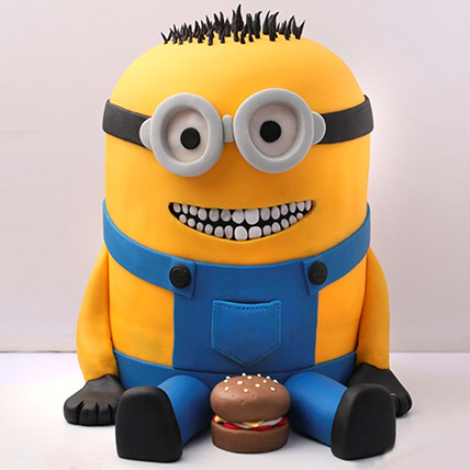 Lovable Minion With A Burger Cake 3 Kg: Premium Cakes