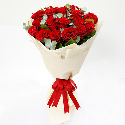 Timeless 20 Red Roses Bouquet: Birthday Flower Bouquets